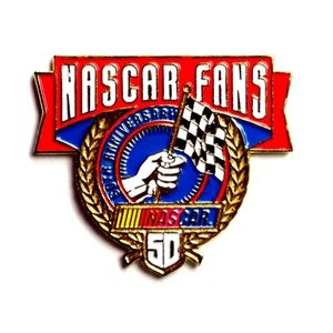 NASCAR Fans 50th Anniversary 1998 Lapel Pin